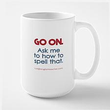 English Teacher Spelling Mugs