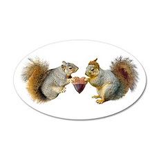 Squirrels Acorn Heart Wall Decal