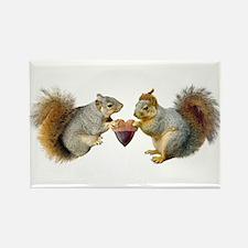 Squirrels Acorn Heart Rectangle Magnet
