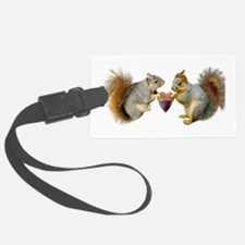 Squirrels Acorn Heart Luggage Tag