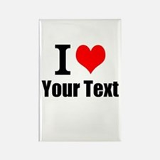 I Heart (your text here) Rectangle Magnet