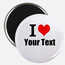 """I Heart (your text here) 2.25"""" Magnet (100 pack)"""