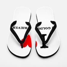 I Love My GOLDEN RETRIEVER Flip Flops