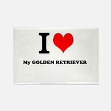 I Love My GOLDEN RETRIEVER Magnets