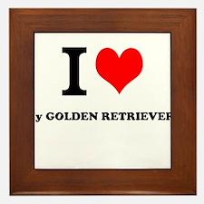 I Love My GOLDEN RETRIEVER Framed Tile