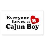 Everyone Loves a Cajun Boy Rectangle Sticker