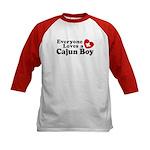 Everyone Loves a Cajun Boy Kids Baseball Jersey