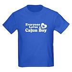Everyone Loves a Cajun Boy Kids Dark T-Shirt