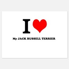 I Love My JACK RUSSELL TERRIER Invitations