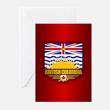 British Columbia Flag Greeting Cards