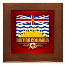 British Columbia Flag Framed Tile