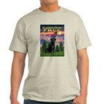 Blessed to be Free Black Lab Light T-Shirt