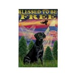 Blessed to be Free Black Lab Rectangle Magnet