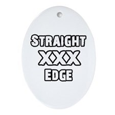 Straightedge Ornament (Oval)