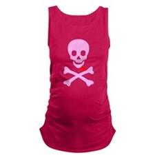Pink Pirates Love Maternity Tank Top