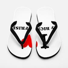 I Love My BICHON FRISE Flip Flops