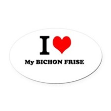 I Love My BICHON FRISE Oval Car Magnet