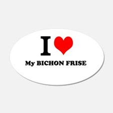 I Love My BICHON FRISE Wall Decal