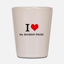 I Love My BICHON FRISE Shot Glass