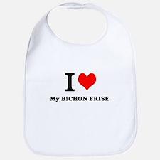 I Love My BICHON FRISE Bib