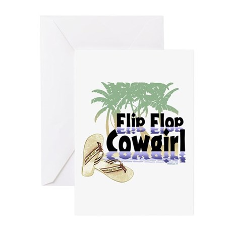 Flip Flop Cowgirl Greeting Cards (Pk of 10)