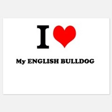 I Love My ENGLISH BULLDOG Invitations