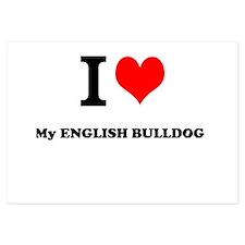 I Love My ENGLISH BULLDOG Invitations