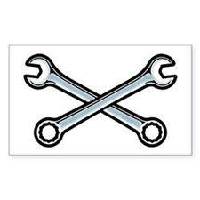 Cross Wrenches Rectangle Decal