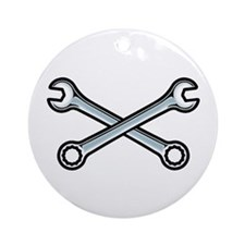 Cross Wrenches Ornament (Round)