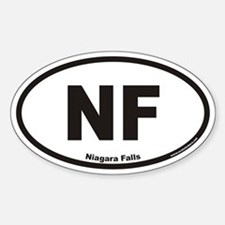 Niagara Falls NF Euro Oval Decal