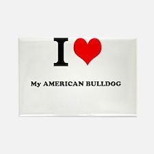 I Love My AMERICAN BULLDOG Magnets