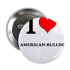 "I Love My AMERICAN BULLDOG 2.25"" Button"