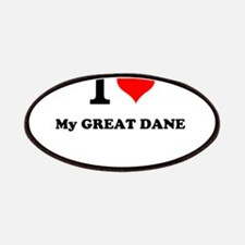 I Love My GREAT DANE Patch