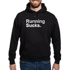 Running Sucks Gray Hoodie