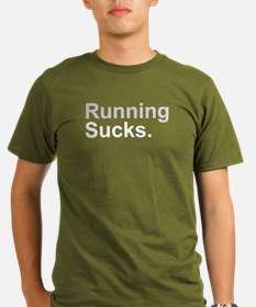 Running Sucks Gray T-Shirt
