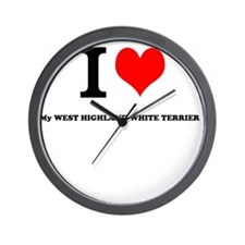 I Love My WEST HIGHLAND WHITE TERRIER Wall Clock