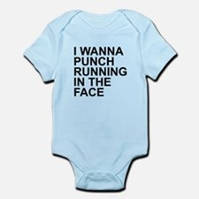 I Wanna Punch Running In The Face Black Body Suit
