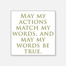 """Actions Words Square Sticker 3"""" x 3"""""""