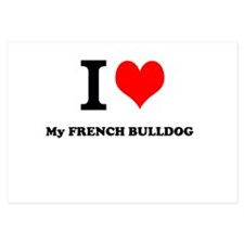 I Love My FRENCH BULLDOG Invitations