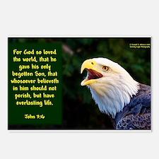 Talking Eagle (Left) - John 3:16 Postcards (Packag