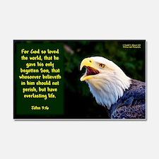 Talking Eagle (Left) - John 3:16 Car Magnet 20 x 1