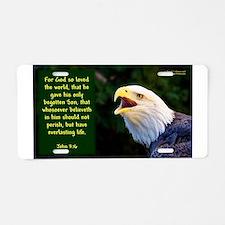 Talking Eagle (left) - John Aluminum License Plate