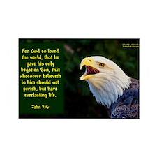Talking Eagle (left) - John 3:16 Magnets