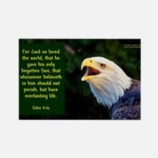 Talking Eagle (left) - John 3:16 Magnets