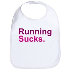 Running Sucks Pink Bib