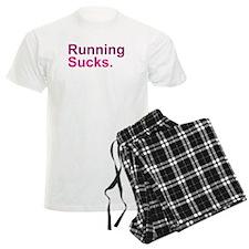 Running Sucks Pink Pajamas