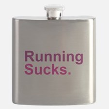 Running Sucks Pink Flask