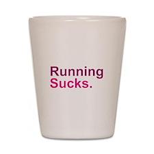 Running Sucks Pink Shot Glass