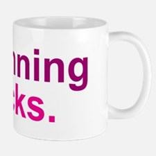 Running Sucks Pink Mugs