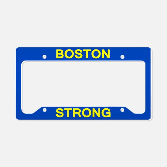 Boston Strong Blue/Yellow License Plate Holder